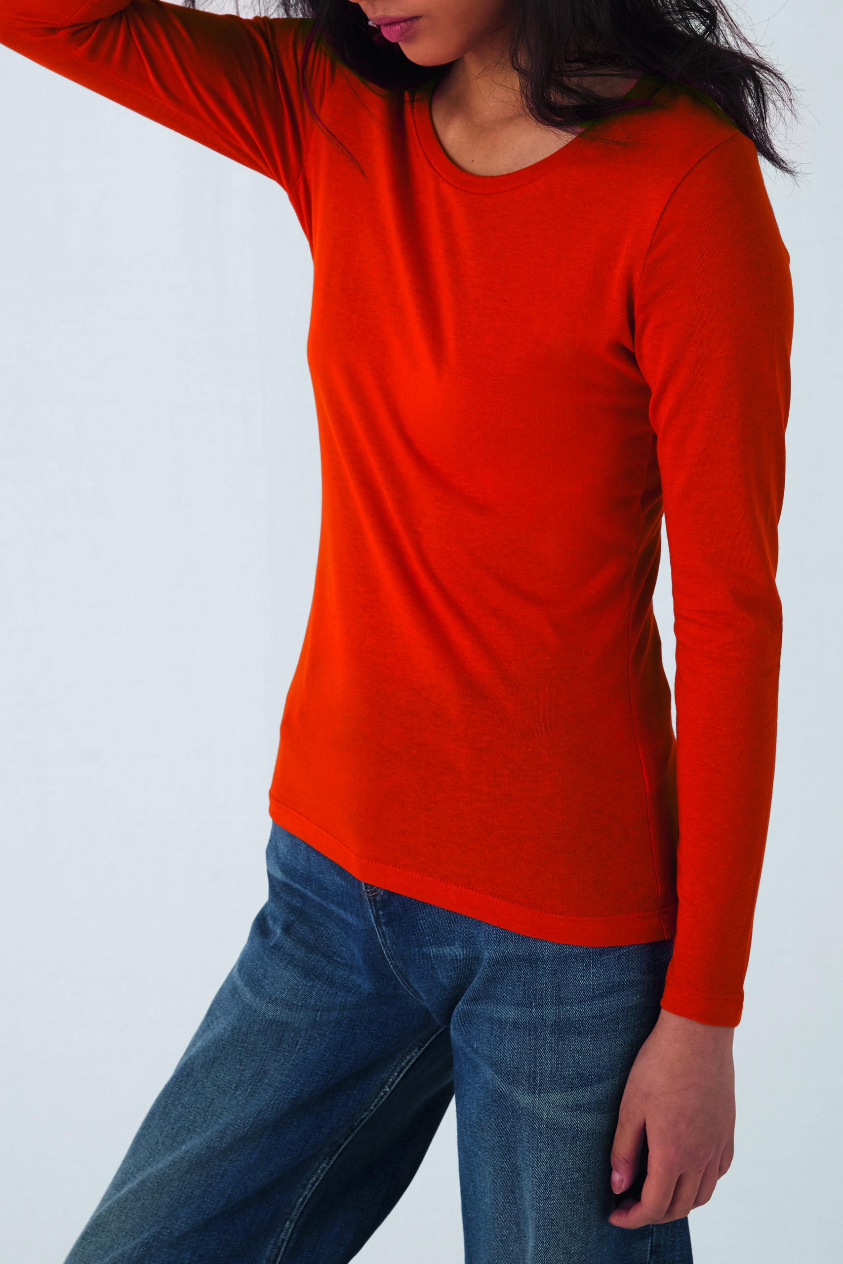 Økologisk, Fair Wear Og Oekotex T-shirt Med Lange ærmer Til Kvinder I En 140g/m2 Kvalitet [ BCTW071]