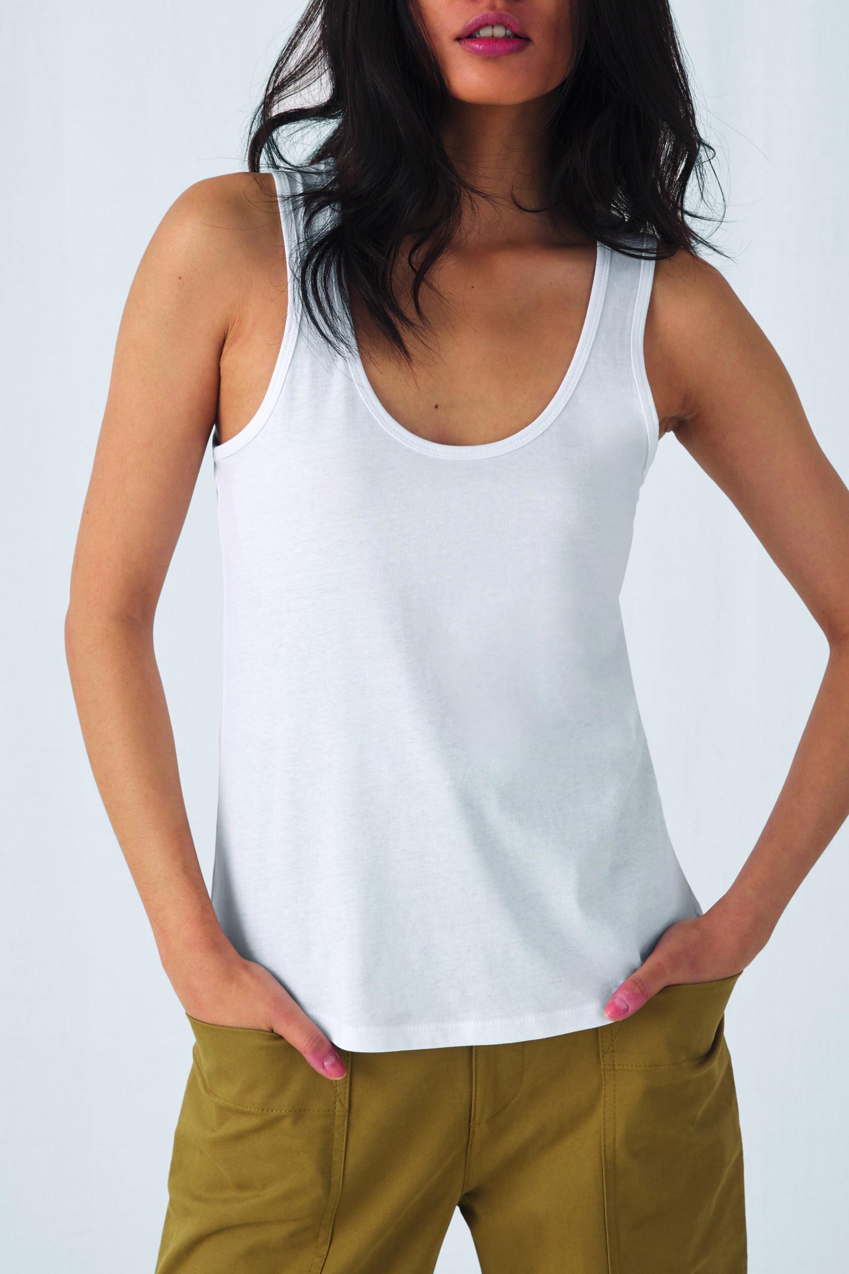 Økologisk, Fair Wear Og Oeko-tex Strop T-shirt Til Kvinder I En 140g/m2 Kvalitet [ BCTW073]