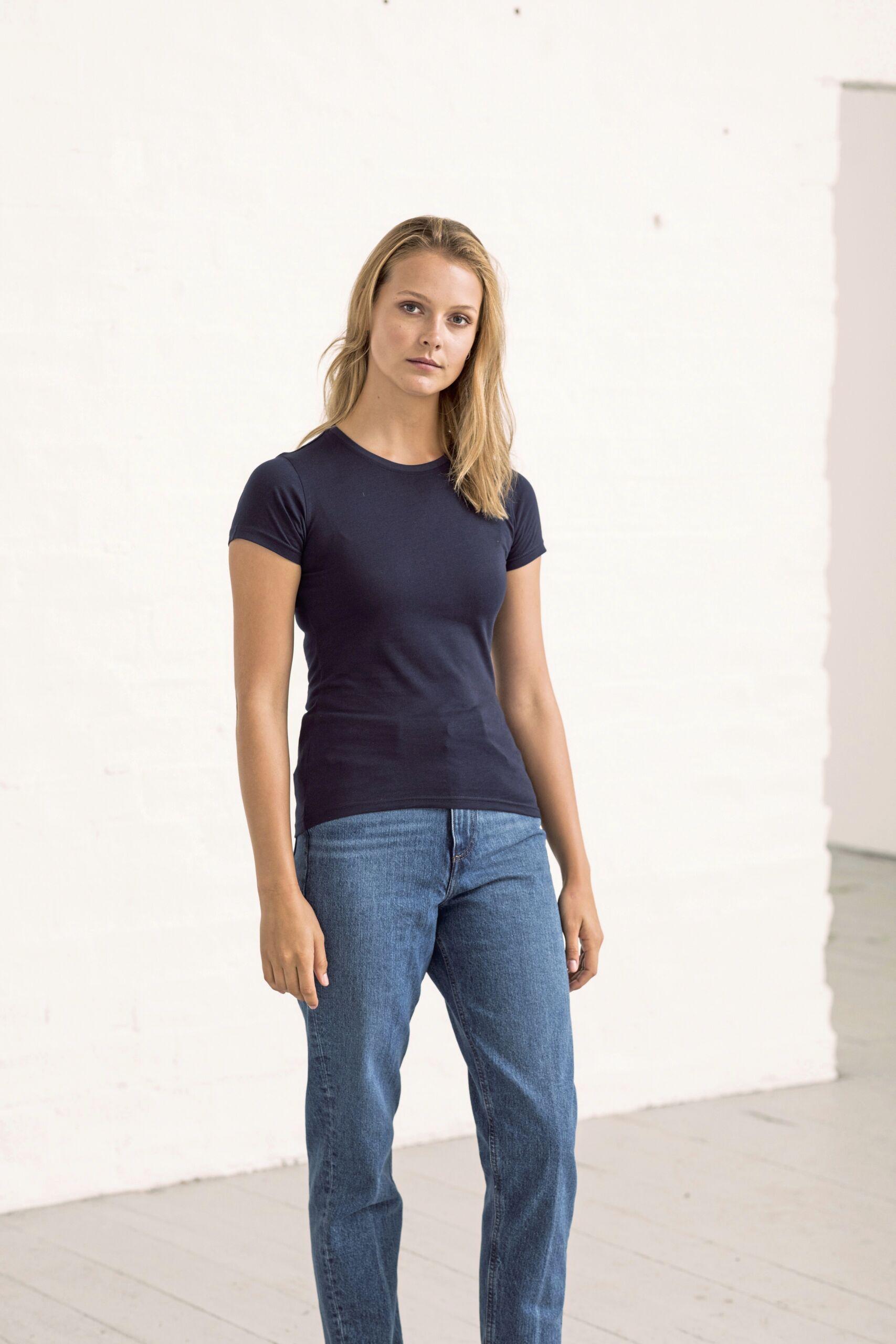 Økologisk Kvinde T-shirt I En 150g/m2 Kvalitet [EA001F]