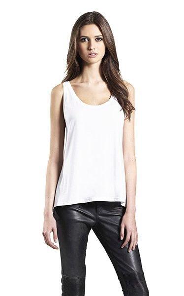 Kvinde økologisk/tencel Strop T-shirt I En 140g/m2 Kvalitet [EP44]