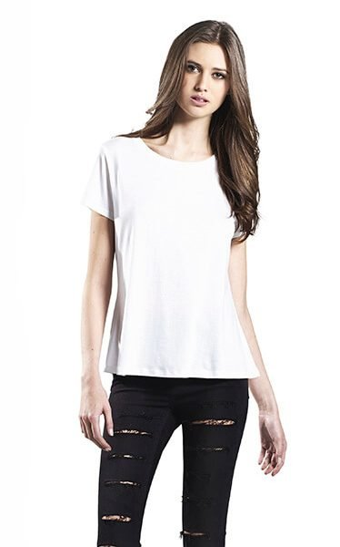 Kvinde økologisk/tencel T-shirt I En 140g/m2 Kvalitet [EP45]