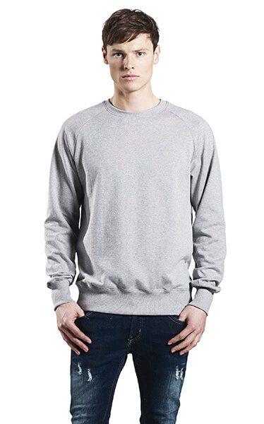 Herre økologisk Sweatshirt I En 280g/m2 Kvalitet Med Raglan ærmer [EP65]