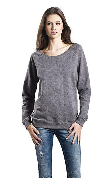 Kvinde økologisk Sweatshirt I En 280g/m2 Kvalitet Med Raglan ærmer [EP66]