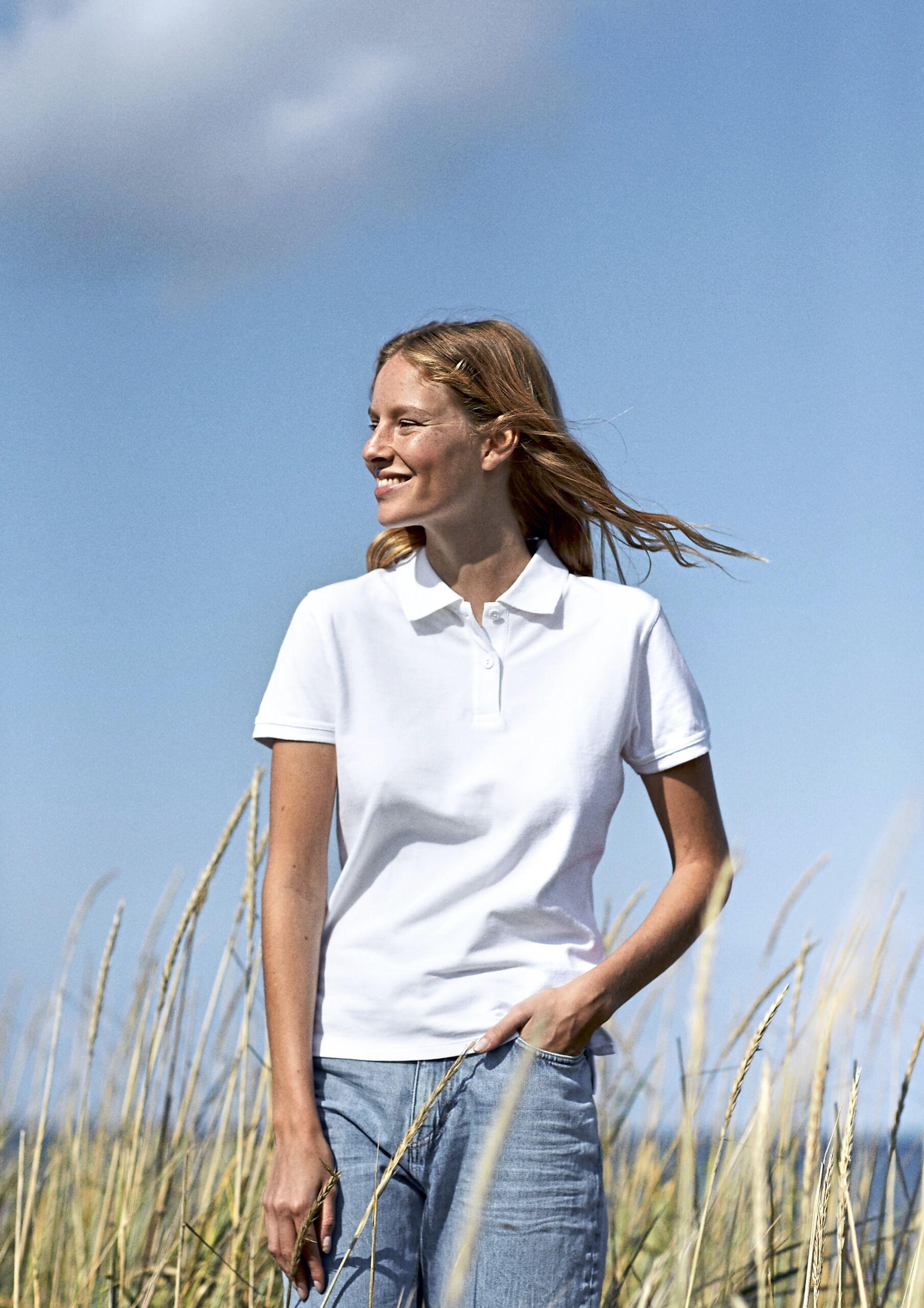 Økologisk, Fairtrade Og Co2neutral Poloshirt Til Kvinder I 235g Kvalitet [NE22980)