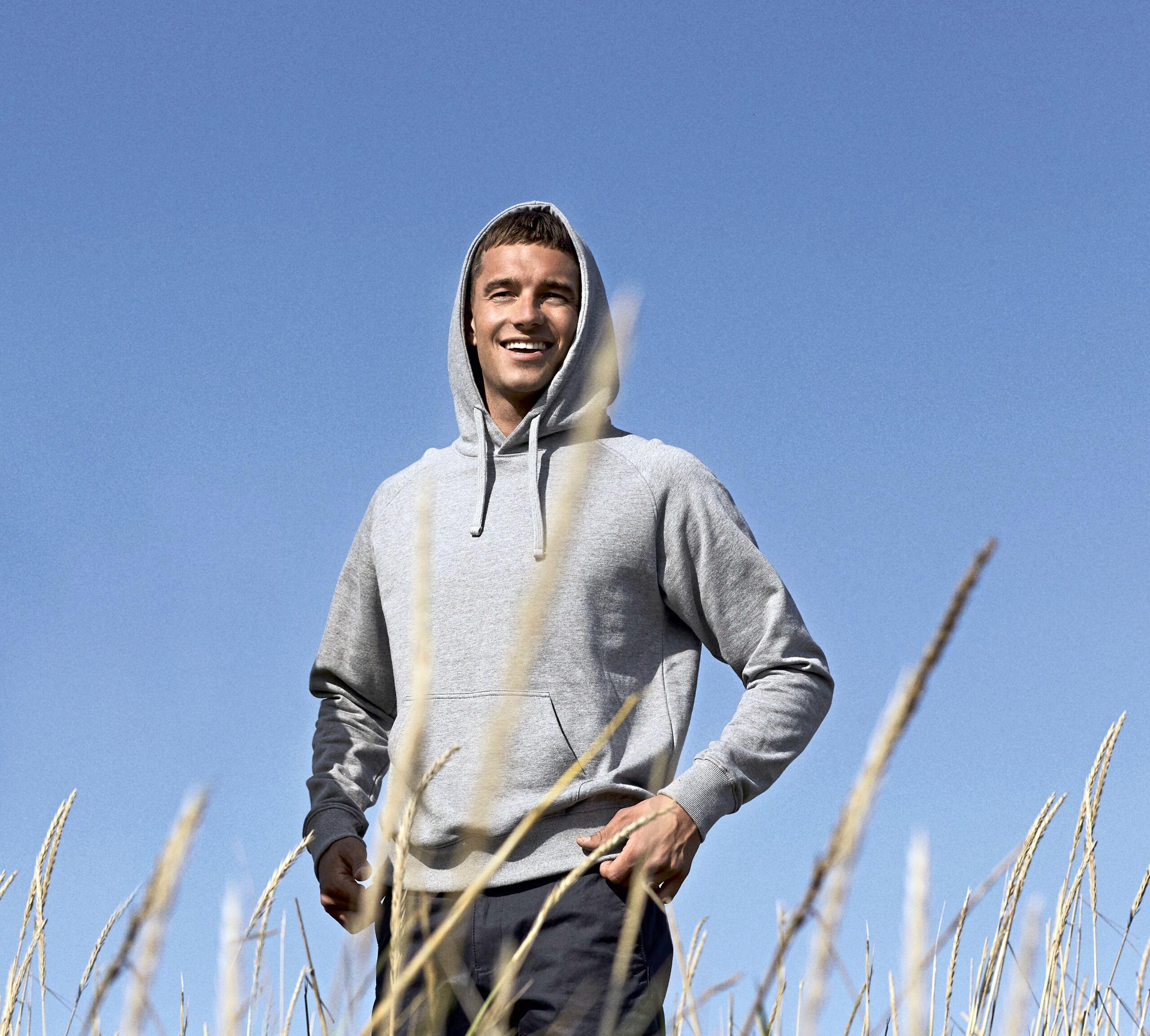 Økologisk, Fairtrade Og Co2 Neutral Hættesweatshirt Til Mænd I En 300g/m2 Kvalitet [NE63101]