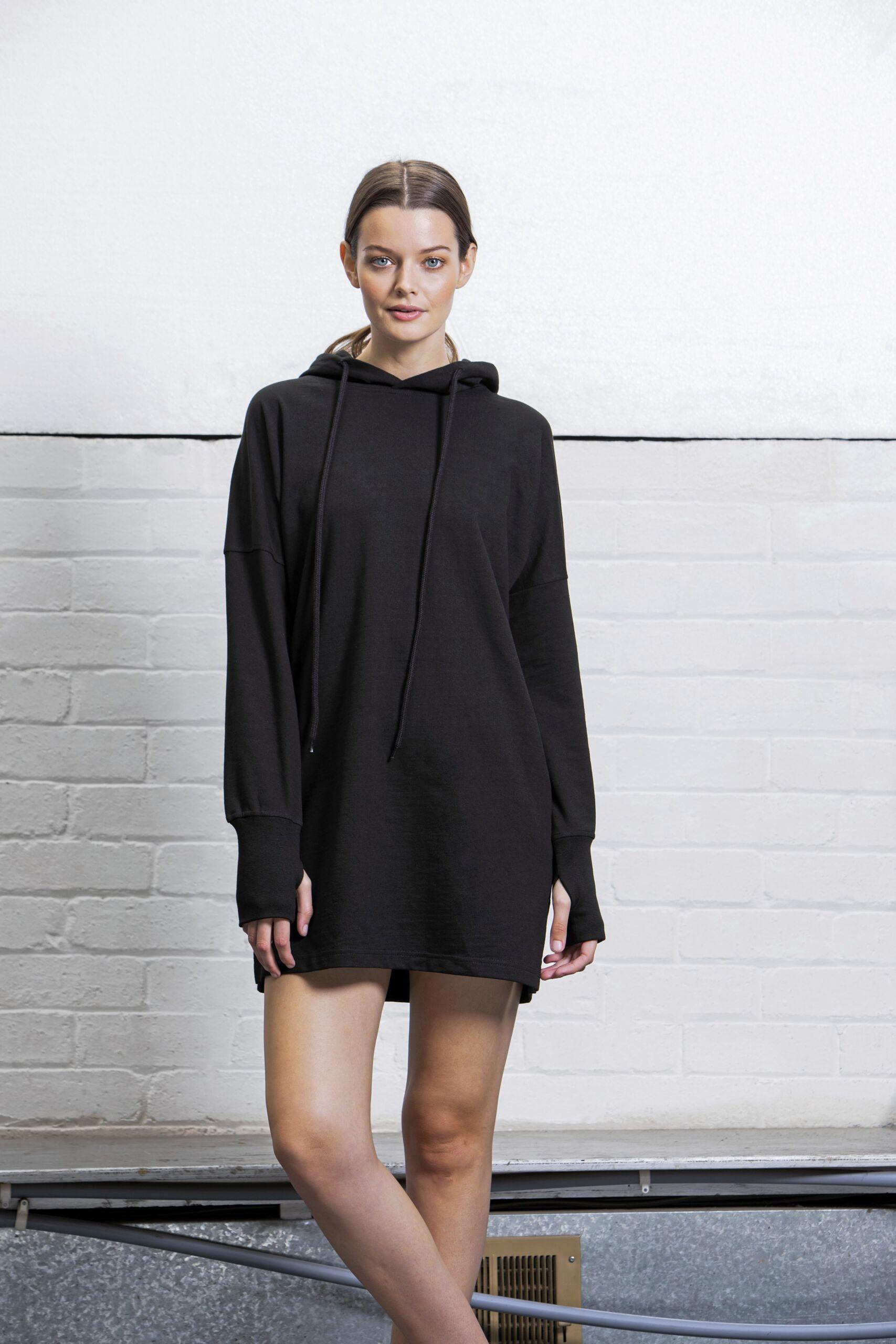 Økologisk Og Oekotex Lang Hættesweatshirt Til Kvinder I En 280g/m2 Kvalitet [P142]