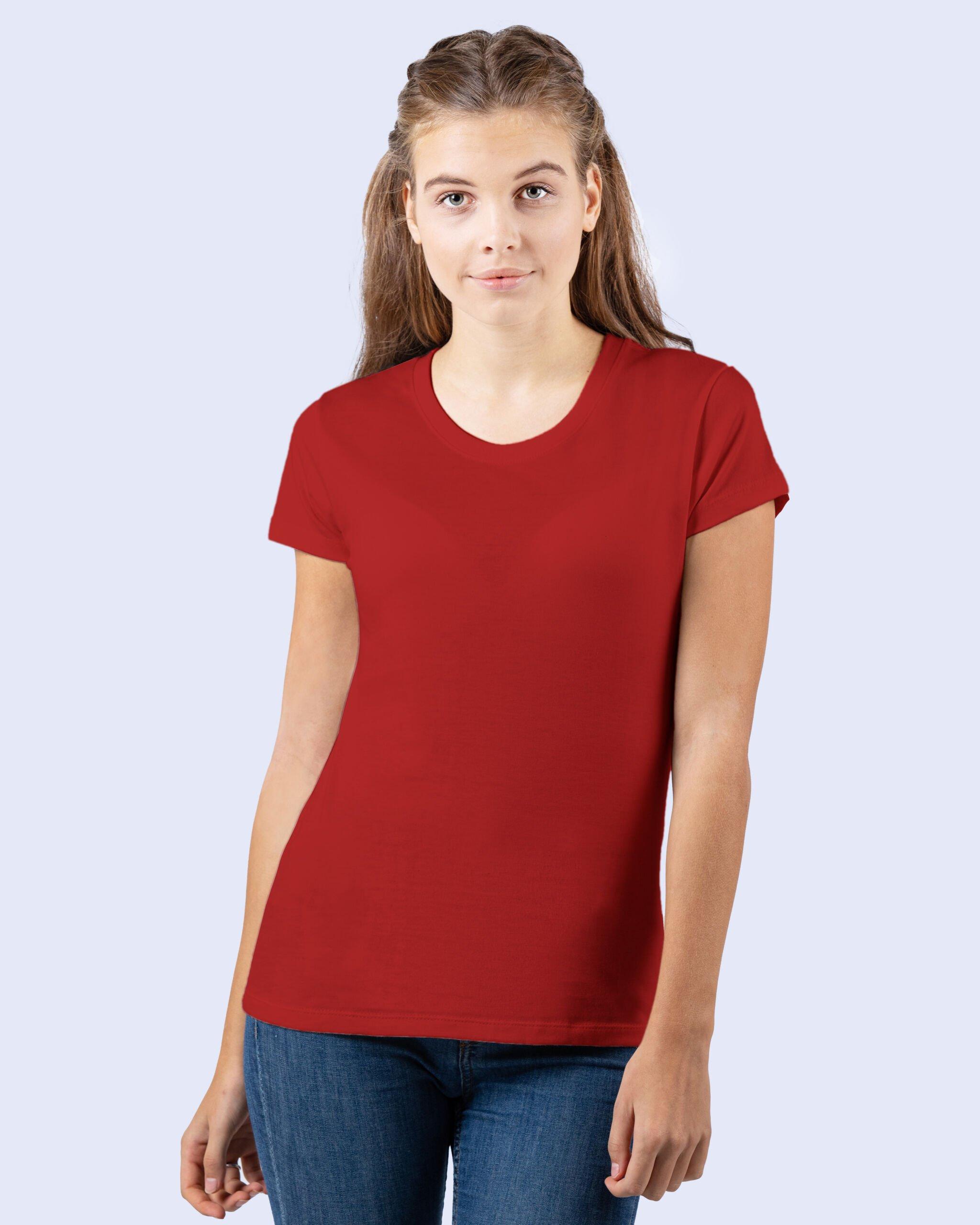 Økologisk Kvinde T-shirt I En 165g/m2 Kvalitet [swgl2]