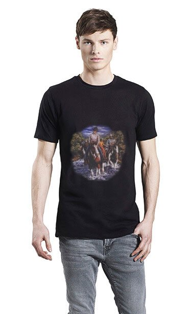 Western Motiver Trykt På økologisk T-shirt